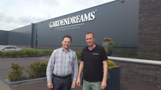 Christian Lenzmann (Projektleiter amexus) & Harm-Jan Likkel (Geschäftsführer Gardendreams)
