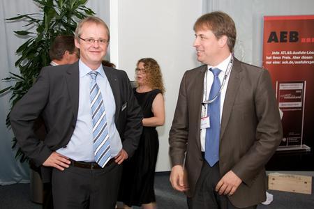 AEB-Geschäftsführer Jochen Günzel, Dr. Klaus Vogt, Leiter des Amts für Wirtschaftsförderung, Stadt Stuttgart