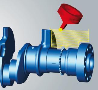 Effizientes Simultandrehen für Maschinen mit schwenkbarer dritter Achse, Quelle: OPEN MIND