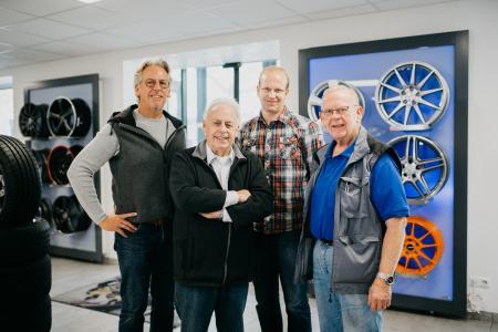 V.l.n.r.: Michael, Karl-Heinz, Ingo u. Dieter Büscher