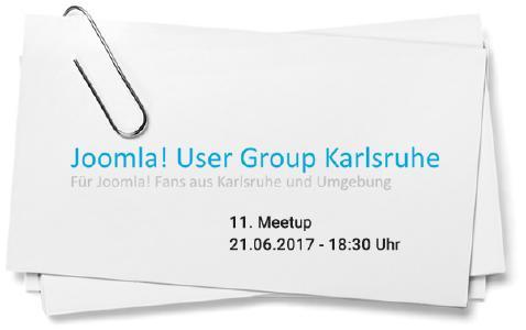 Veranstaltungshinweis: Treffen der Joomla! User Group in Karlsruhe am 21. Juni 2017