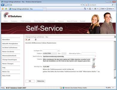 Mehr Service für Endanwender – der neue Self-Service bei iET ITSM 4.1