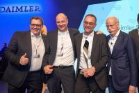 Die MEKRA Lang-Delegation mit dem Vorstandsvorsitzenden der Daimler AG Dieter Zetsche