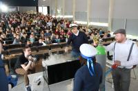 Staunen inklusive: Die Kinder-Uni des explorhino startet am Samstag, den 20. März 2021, wieder. Aufgrund der aktuellen Situation ist noch nicht klar, ob sie im Audimax der Hochschule Aalen veranstaltet werden kann oder virtuell stattfindet, Fotohinweis: © Hochschule Aalen | Susanne Garreis