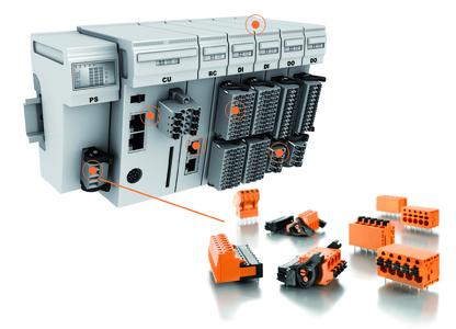 Weidmüller OMNIMATE service: Click on the respective marking on the control to display the corresponding product recommendation, e.g. for power supply and peripheral devices