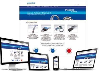 Seit kurzem präsentiert sich die Rodriguez-Website in einem frischen, modernen Design und ist zudem für mobile Endgeräte optimiert