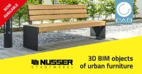 NUSSER offers 3D BIM objects of urban furniture powered by CADENAS for easier planning