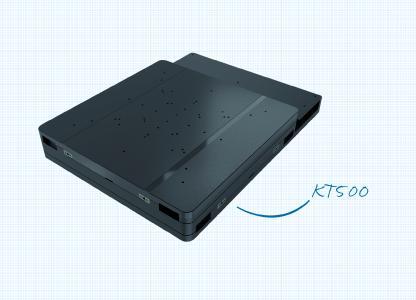 Kompakt, präzise und schnell: Der Kreuztisch KT500 erfüllt höchste Ansprüche und kann auch große Substrate und Teile vollflächig scannen
