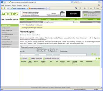 Produkt-Agent von Actebis spart Zeit