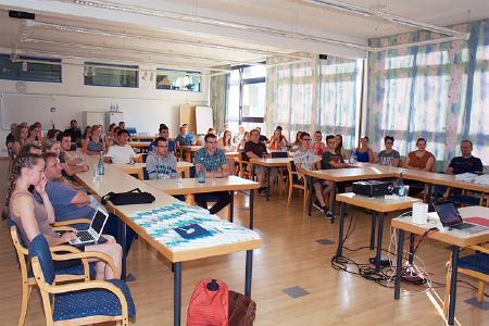 Auftakt der Veranstaltung am Sonntag, den 18. Juni, mit der Präsentation der Projekte / Foto: TU Kaiserslautern