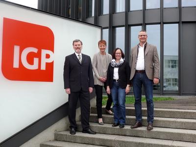 Horst Veitl (Gecshäftsführer profiling24.com), Regina Reinhardt (Geschäftsführerin GPC), Annemarie Biefer (Personalleiterin IGP), Marc Züllig (CEO IGP) (v.l.n.r.)