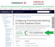 ☑️ Oracle Datenbank via Commvault erst klonen ➕ via Plug-In dann sensible Daten direkt maskieren ❗