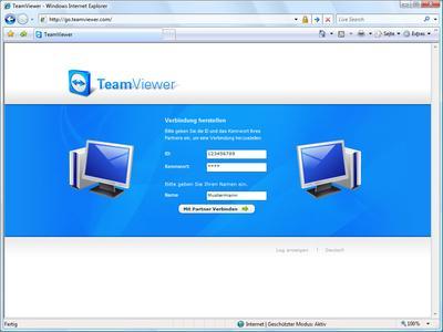 Screenshot TeamViewer Web-Präsentation