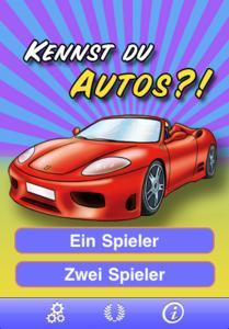 Kennst du Autos? - Startscreen