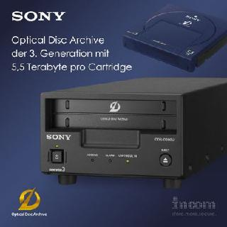 Sony kündigt Optical Disc Archiv Gen 3 mit 5,5 Terabyte je Cartridge an