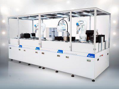 """Hannover Messe 2018: Delta demonstriert mit der """"Multi Tasking Smart Production Line"""" seine Fähigkeiten im Bereich Smart Manufacturing"""