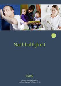In einer neuen Broschüre informiert Deutschlands größter Baufarbenhersteller DAW über seine Aktivitäten im Bereich Nachhaltigkeit (Foto: DAW)