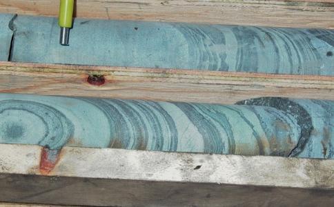 Bohrkerne von Block 103; Foto: M3 Metals