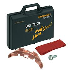 Safe belt fitting: ContiTech's UNI-TOOL ELAST universal tool ensures elastic V-ribbed belts can be installed correctly, Photo: ContiTech