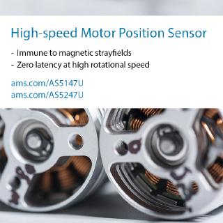 New ams position sensors for high-speed electric motors to improve car industry's electrification efforts