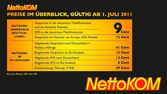 Mit NettoKOM im EU-Ausland noch günstiger mobil telefonieren