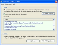 1-abc.net Folder-To-TXT ist ein neues Windows-Freeware-Programm