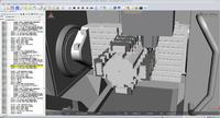 5-Achs-Beabeitungen werden durch die Simulation mit Virtual Machine übersichtlicher und sicherer  . Bild: Geovision GmbH & Co. KG, Wagenhofen
