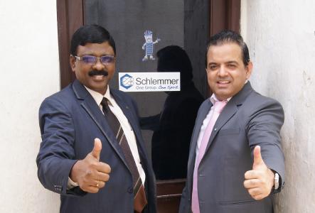 Schlemmer General Manager India Jayaraman Thiruvasagam (left) and Tajun Rajani