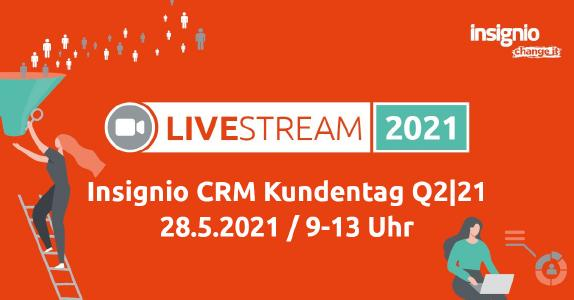 Ein voll digitales Insignio Event voller spannender Vorträge, News und Tech-Innovationen rund um das Thema CRM – nicht verpassen!