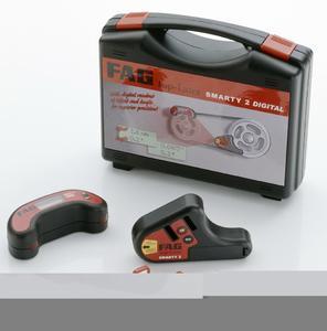 Der FAG Top Laser SMARTY2 misst und korrigiert die Parallelität von Antrieb und Scheiben wesentlich schneller und genauer als herkömmliche Methoden.