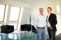 Klaus Baumann (links) und Maik Porsch, die Geschäftsführer der Sputnik GmbH