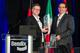 Berend Bracht, president and CEO Bendix Commercial Vehicle Systems, (left) accepts the Navistar Diamond Supplier award from Pat Morello, Navistar's director of chassis procurement