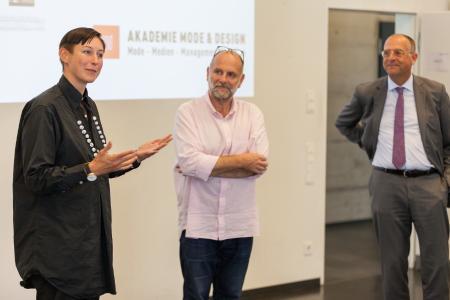 Die Jury: v.l.n.r. Magdalena Schaffrin, Markus Wirz, Georg Dieners / Bild:  OEKO-TEX®
