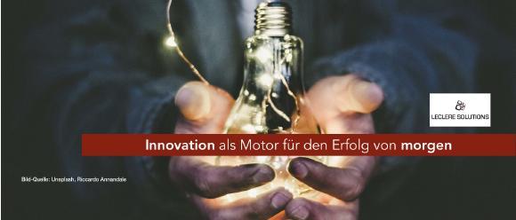 Innovation als Motor für Morgen