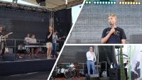 """Peppermint Soul"" und ""Berhane Berhane"" performten auf dem Heidelberg iT-Sommerfest. Fotos: Heidelberg iT"