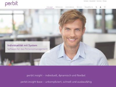 perbit Website in neuem Design