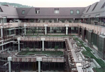Die begrünten Terrassen kurz nach der Pflanzung …, Quelle: Arnold