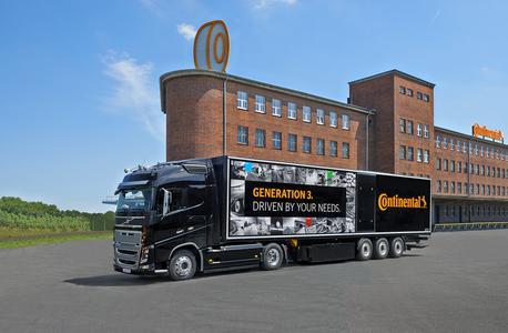 Conti Hybrid und Conti EcoPlus sind die neuen Reifenlinien der Generation 3 für den Güterverkehr, die Continental auf der IAA vorstellt