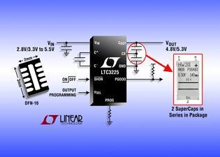 Programmable 150mA Supercapacitor Charger with Auto Cell Balancing in Compact 6mm2 Package