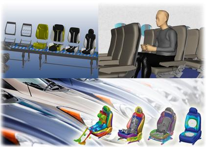 ESI's Virtual Seat Solution allows industrial seat manufacturers to build, test and improve virtual seat prototypes that take into account the materials used and the manufacturing history