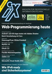 IT-Profimagazin iX 10/2012 Cover