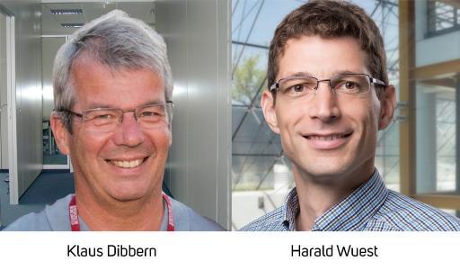 Ausbau des Managements bei Visometry: Dr. Klaus Dibbern (links) wird neuer CEO, während Mitgründer Dr. Harald Wuest als CPO (Chief Product Officer) seinen Fokus wieder mehr auf Produktstrategie und  -entwicklung legen wird.