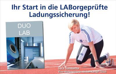 """""""Ihr Start in die LABorgeprüfte Ladungssicherung!"""" – unter diesem Motto präsentiert sich DUO PLAST® auf der FachPack 2012"""