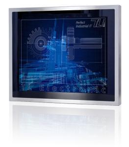 Displaydiagonalen von 26,4 cm (10,4-Zoll, mit Bay Trail CPU) bis 54,6 cm (21,5-Zoll) mit projiziert-kapazitivem Multi-Touch-Screen stehen bei den Flat Stainless P-CAP IP65-Serien zur Auswahl
