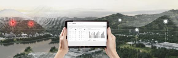 ABB AbilityTM Energy and Asset Manager ist eine hochmoderne Cloud-Lösung, die Energie- und Anlagenmanagement in einem einzi-gen intuitiven Dashboard integriert. Bild: ABB