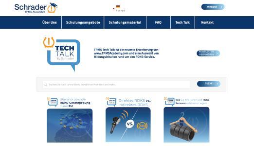 """Schrader TPMS Academy stellt """"TPMS Tech Talk"""" vor"""