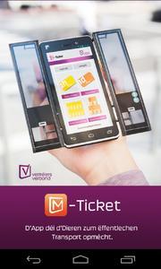 highQ M-Ticket Startbildschirm