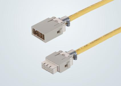 The new Han® Gigabit module – pin, socket - enables data transmission according to the Category 7A standard in a modular connector. The immunity to interference is increased