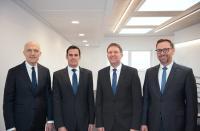 Die SEEPEX-Geschäftsführung wird erweitert; von links nach rechts: Ulli Seeberger (Chairman), Alexander Kuppe, Dr. Bernd Groß, Dr. Christian Hansen