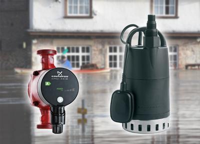 Grundfos Pressebild Hochwasserhilfe